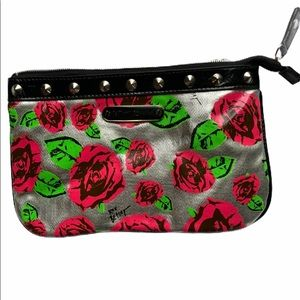 EUC Betsy Johnson Rose Print Makeup Bag